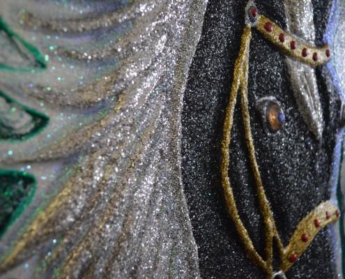 Dettaglio - Tecnica mista, colori vetro, sabbia cristallo, 40x40, 2017